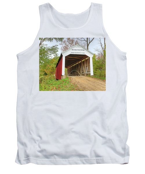 Bowser Ford Covered Bridge Tank Top by Harold Rau