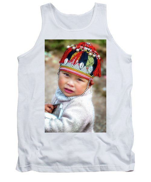 Boy With A Red Cap. Tank Top
