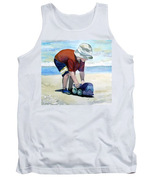 Boy With Truck Tank Top