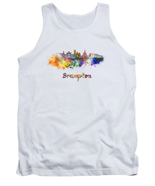 Brampton Skyline In Watercolor Tank Top