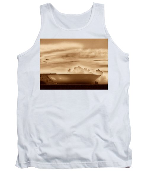 Tank Top featuring the photograph Brasilia In Sepia by Beto Machado