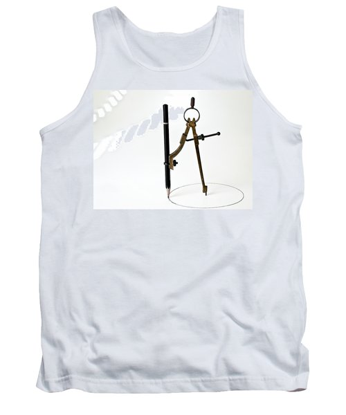 Brass Compass And Pencil Tank Top