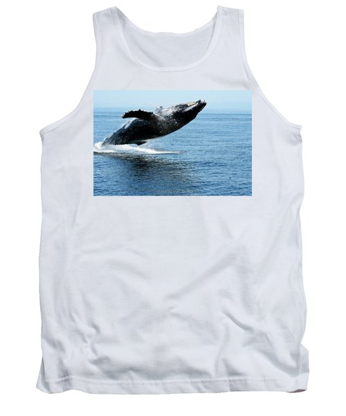 Breaching Humpback Whales Happy-2 Tank Top