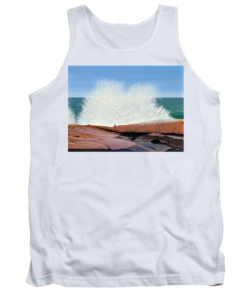 Tank Top featuring the painting Breakers On Georgian Bay by Kenneth M  Kirsch