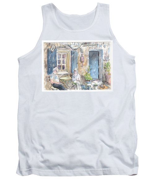Tank Top featuring the painting Breakfast Al Fresco by Tilly Strauss