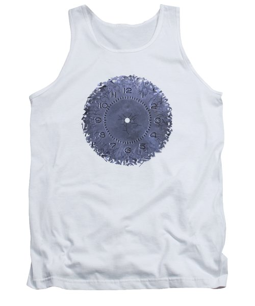 Breaking Apart Of The Old Clock Face Tank Top