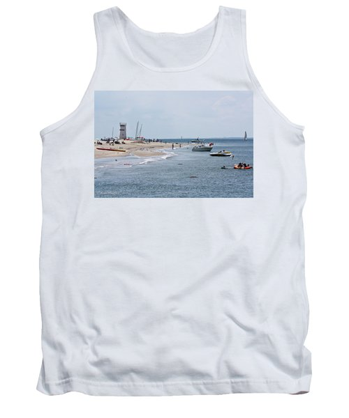 Tank Top featuring the photograph Breezy Point Lighthouse by Ann Murphy