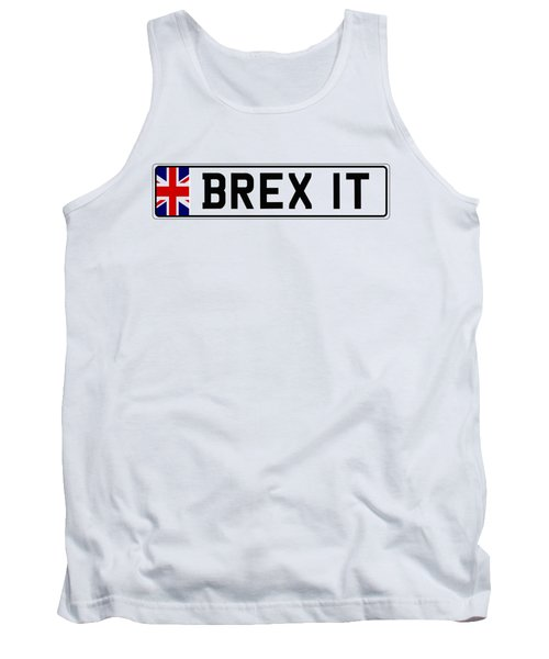 Brexit Number Plate Tank Top by Roger Lighterness