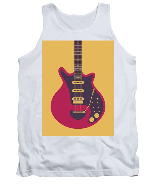Red Special Guitar - Gold Tank Top