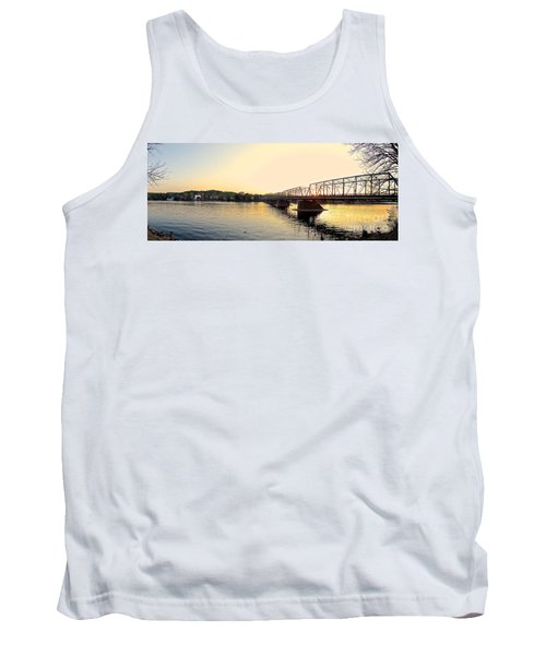 Bridge And New Hope At Sunset Tank Top