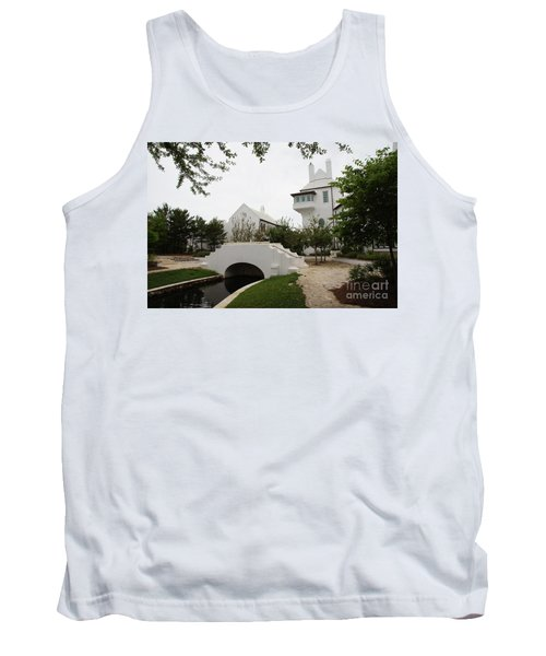Bridge In Alys Beach Tank Top by Megan Cohen