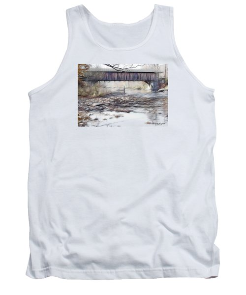 Tank Top featuring the photograph Bridge Over Troubled Waters by EricaMaxine  Price
