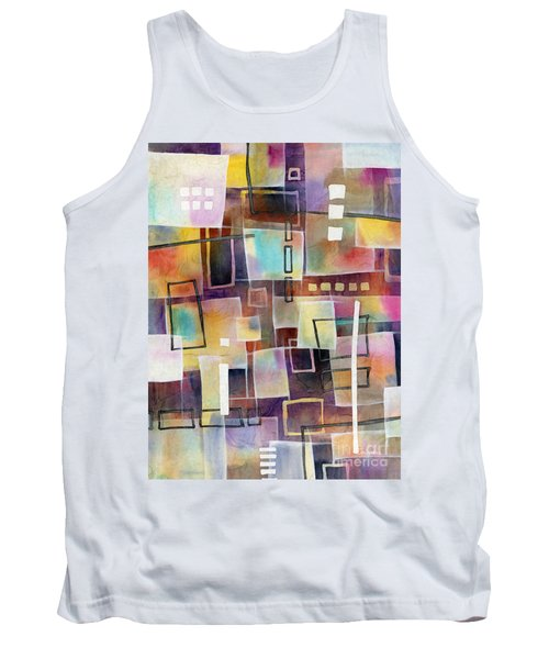 Tank Top featuring the painting Bridging Gaps 2 by Hailey E Herrera
