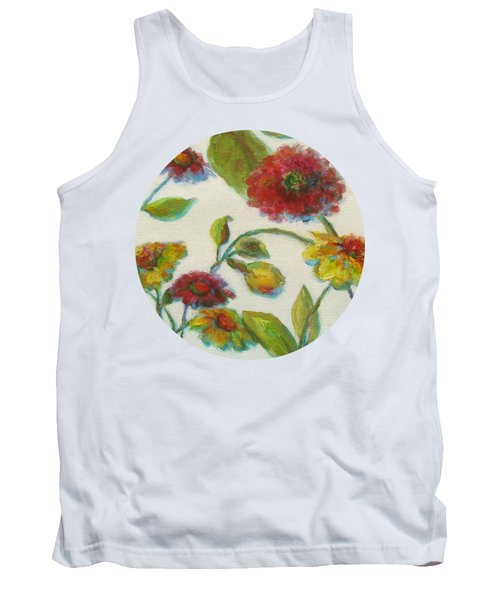 Bright Contemporary Floral  Tank Top