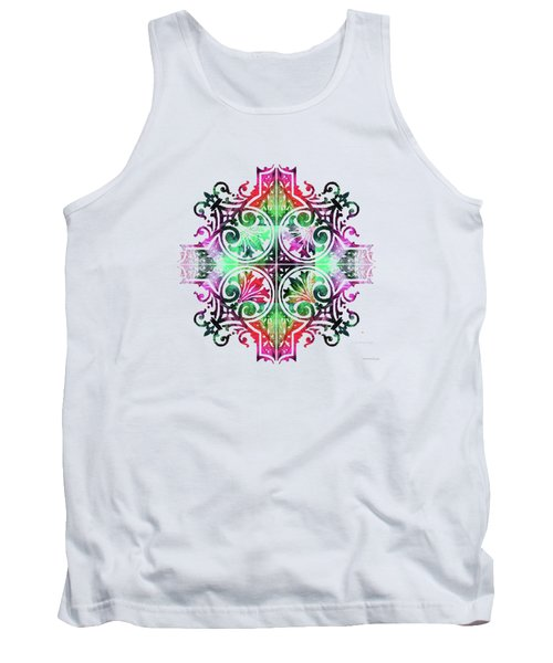 Bright Pattern Art - Color Fusion Design 9 By Sharon Cummings Tank Top