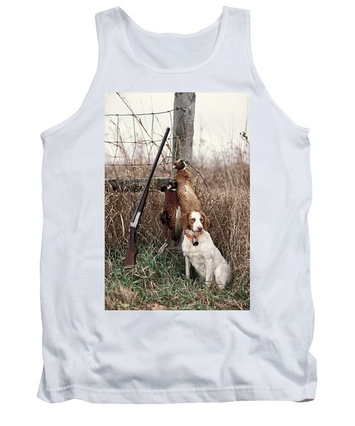 Brittany And Pheasants - Fs000757b Tank Top