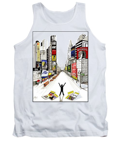 Tank Top featuring the drawing Broadway Dreamin' by Marilyn Smith