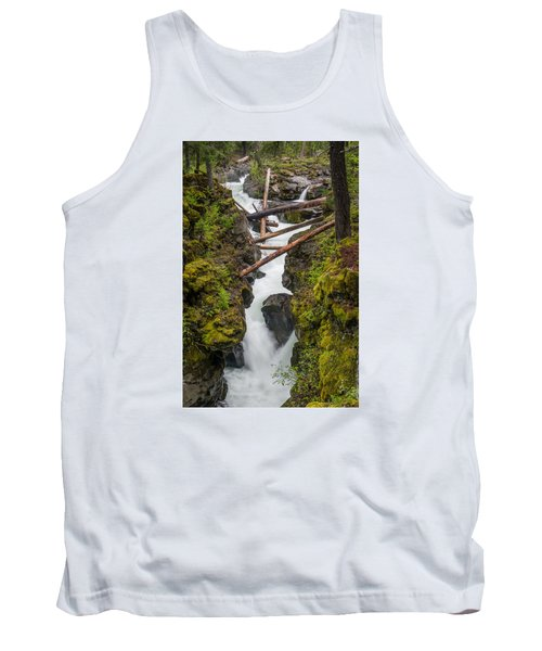 Broiling Rogue Gorge Tank Top by Greg Nyquist