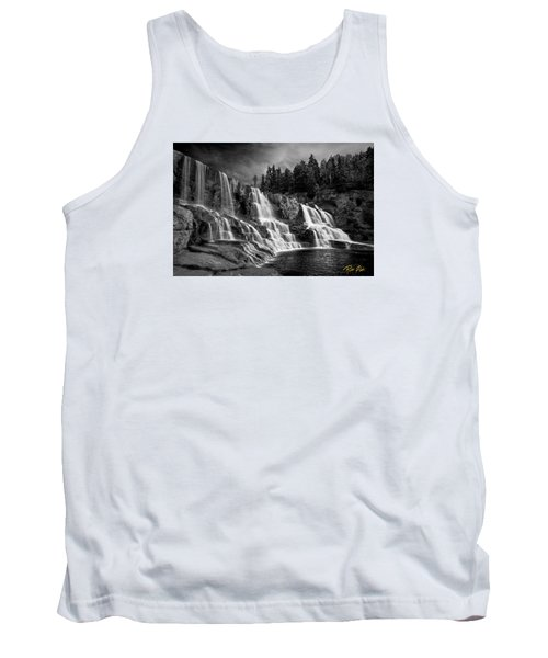 Tank Top featuring the photograph Brooding Gooseberry Falls by Rikk Flohr