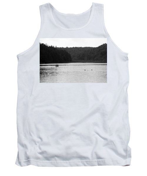 Tank Top featuring the photograph Brookfield, Vt - Swimming Hole 2006 Bw by Frank Romeo