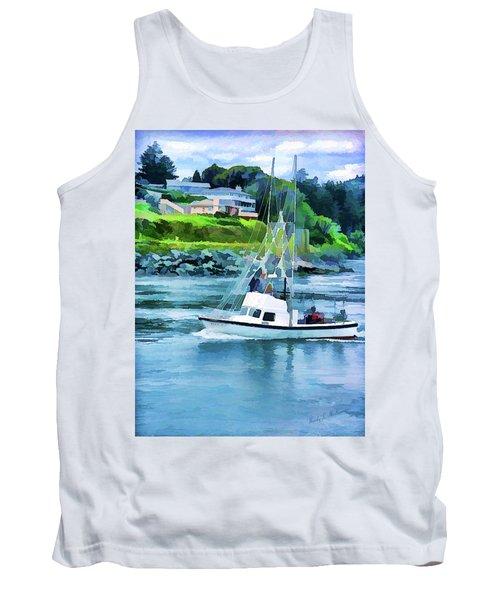 Brookings Boat Oil Painting Tank Top