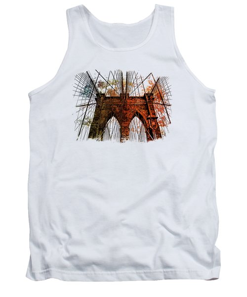 Brooklyn Bridge Art 1 Tank Top by Di Designs