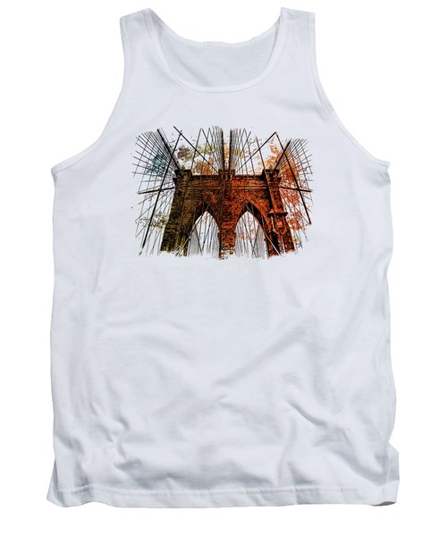Brooklyn Bridge Art 1 Tank Top