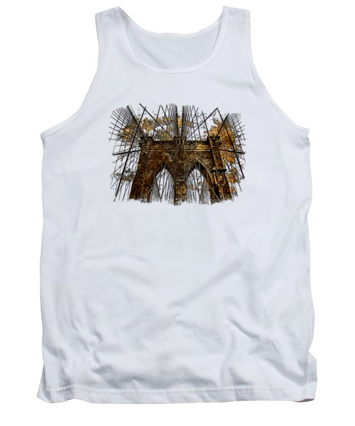 Brooklyn Bridge Earthy 3 Dimensional Tank Top by Di Designs