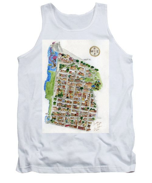 Brooklyn Heights Map Tank Top by AFineLyne