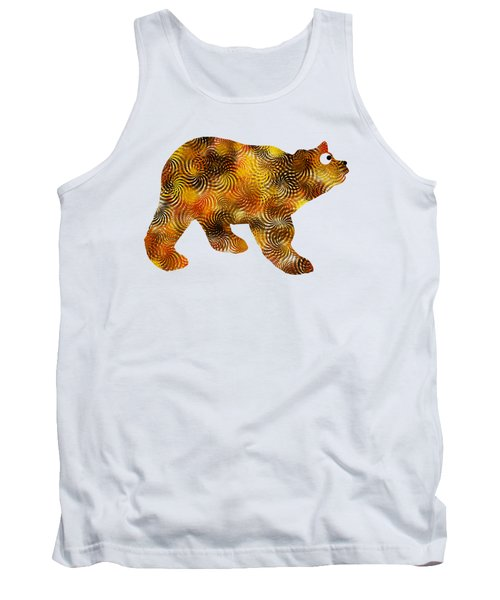 Brown Bear Silhouette Tank Top by Christina Rollo