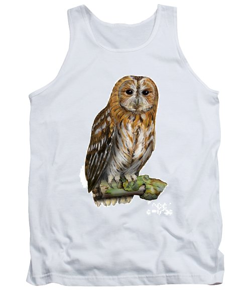 Brown Owl Or Eurasian Tawny Owl  Strix Aluco - Chouette Hulotte - Carabo Comun -  Nationalpark Eifel Tank Top