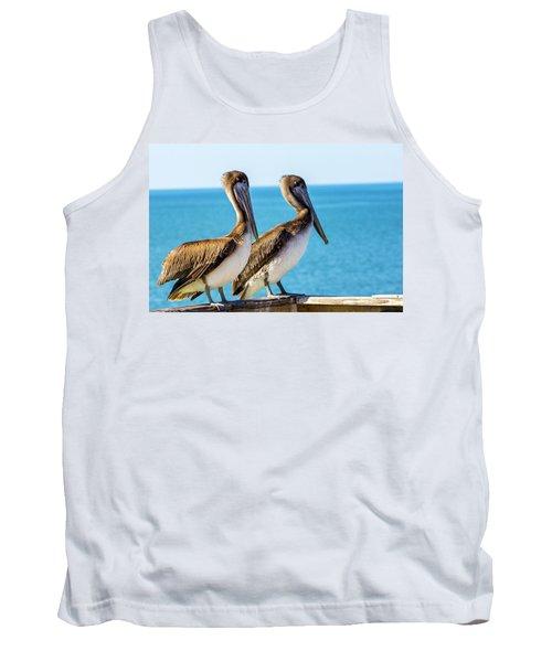 Brown Pelican Pair Tank Top