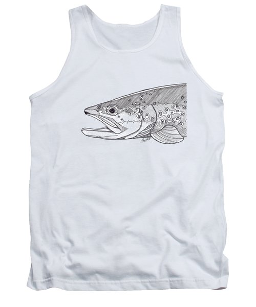Brown Trout Tank Top by Jay Talbot