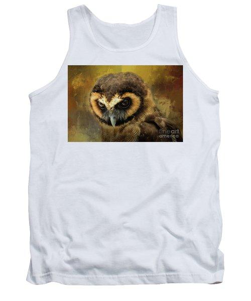 Brown Wood Owl Tank Top