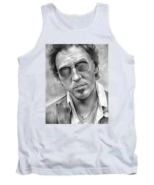 Bruce Springsteen Tank Top by Greg Joens