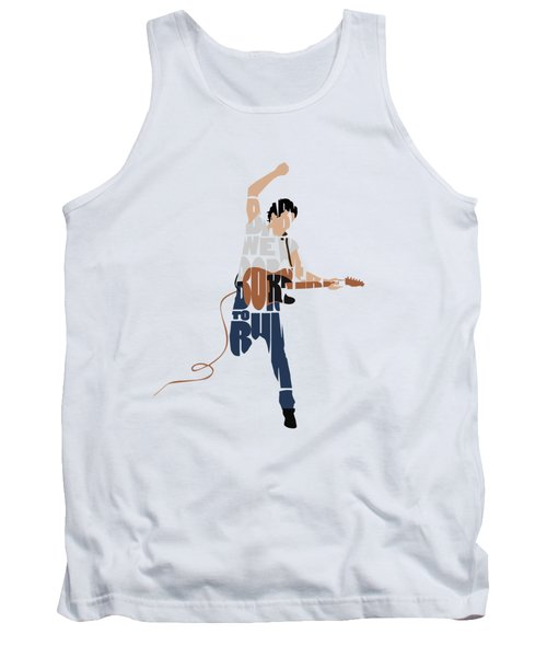 Bruce Springsteen Typography Art Tank Top