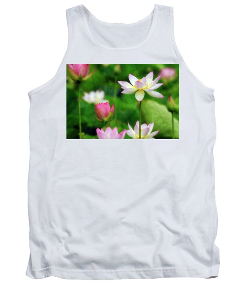 Tank Top featuring the photograph Brushed Lotus by Edward Kreis