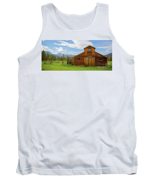 Buckaroo Barn In Rocky Mtn National Park Tank Top by John Roberts