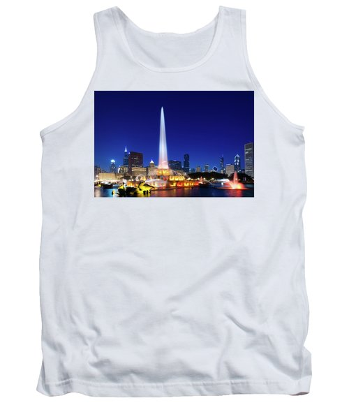 Tank Top featuring the photograph Buckingham Fountain by Sebastian Musial