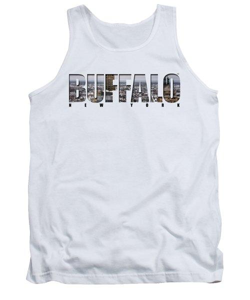Buffalo Ny Snowy Cityscape Tank Top by Michael Frank Jr