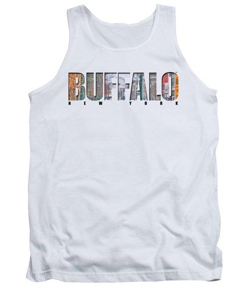 Buffalo Ny Snowy Downtown Tank Top by Michael Frank Jr