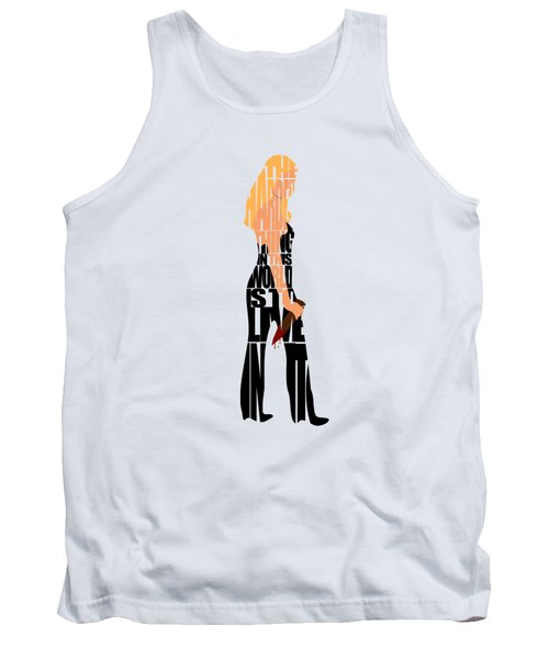 Tank Top featuring the digital art Buffy The Vampire Slayer by Ayse Deniz