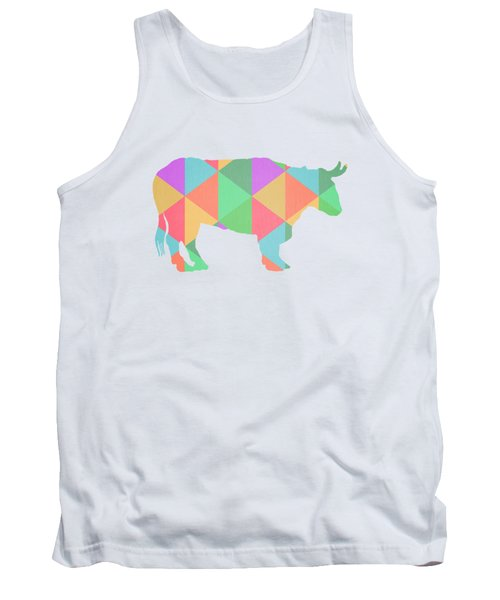 Bull Cow Triangles Tank Top by Edward Fielding