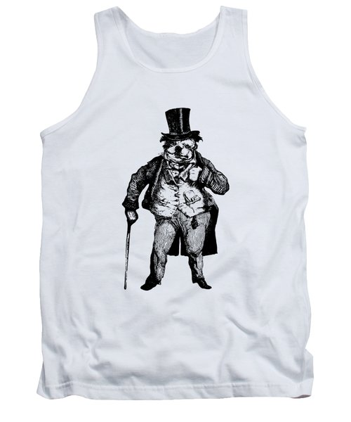 Bull Dog Grandville Transparent Background Tank Top