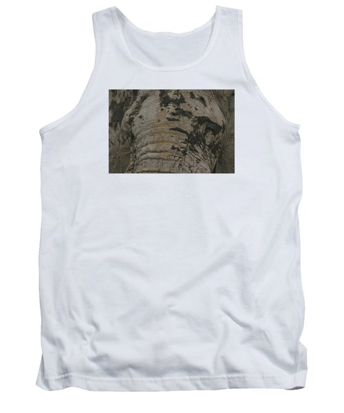 Tank Top featuring the photograph Bull Elephant Close-up by Gary Hall