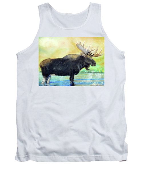 Bull Moose In Mid Stream Tank Top