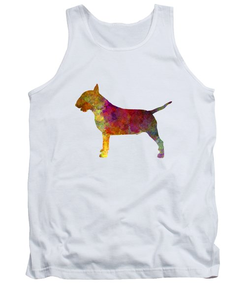 Bull Terrier In Watercolor Tank Top