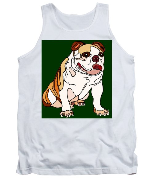 Tank Top featuring the painting Bulldog by Marian Cates
