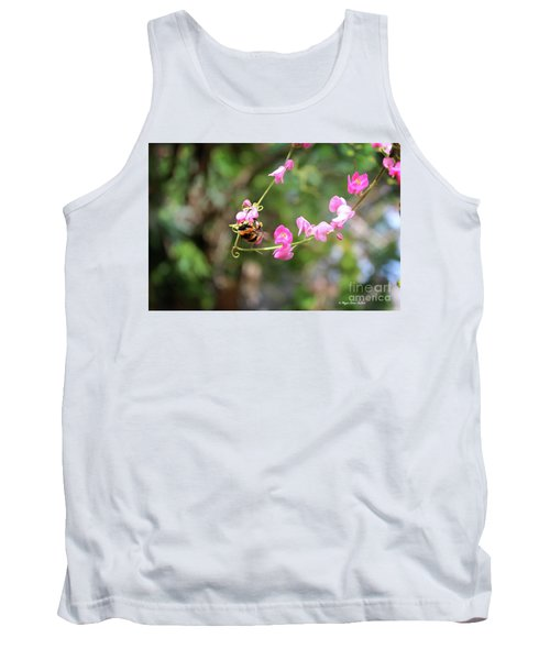 Tank Top featuring the photograph Bumble Bee1 by Megan Dirsa-DuBois