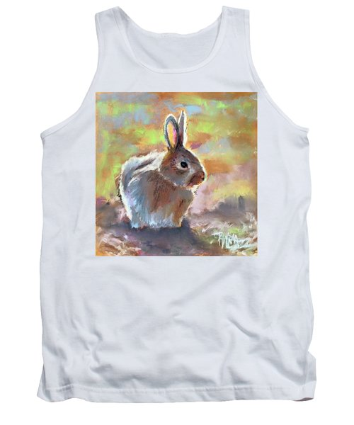 Tank Top featuring the pastel Bunny by Pattie Wall